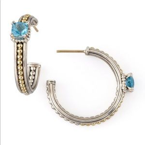 Lagos Blue Topaz Prism Hoop Earrings
